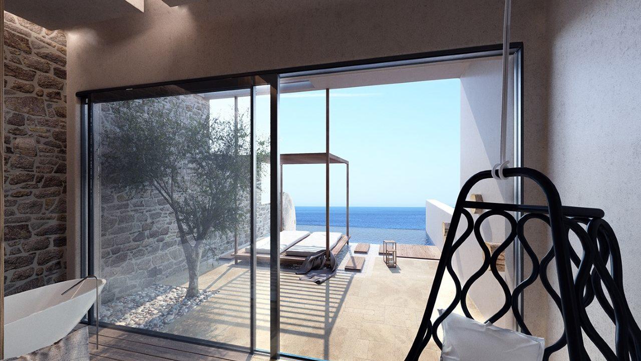 villa with infinity pool | ACRO SUITES- a wellbeing resort in Crete | Agia Pelagia, Heraklion, Crete