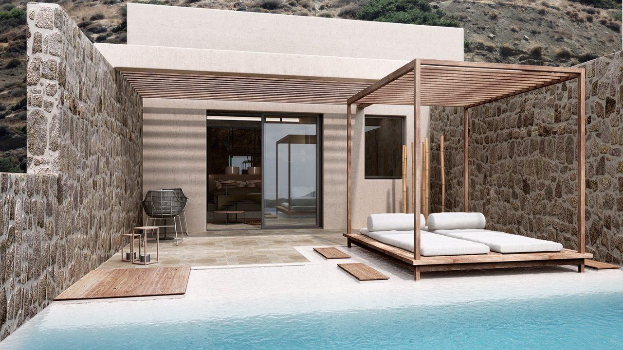 hotel with private pool crete | ACRO SUITES- a wellbeing resort in Crete | Agia Pelagia, Heraklion, Crete